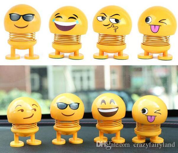 Admirable Emoji Shaking Head Kids Toys Expression Head Shaking Doll Spring Man Ornament Car Desk Decoration Shaking Head Doll Top Quality Download Free Architecture Designs Scobabritishbridgeorg