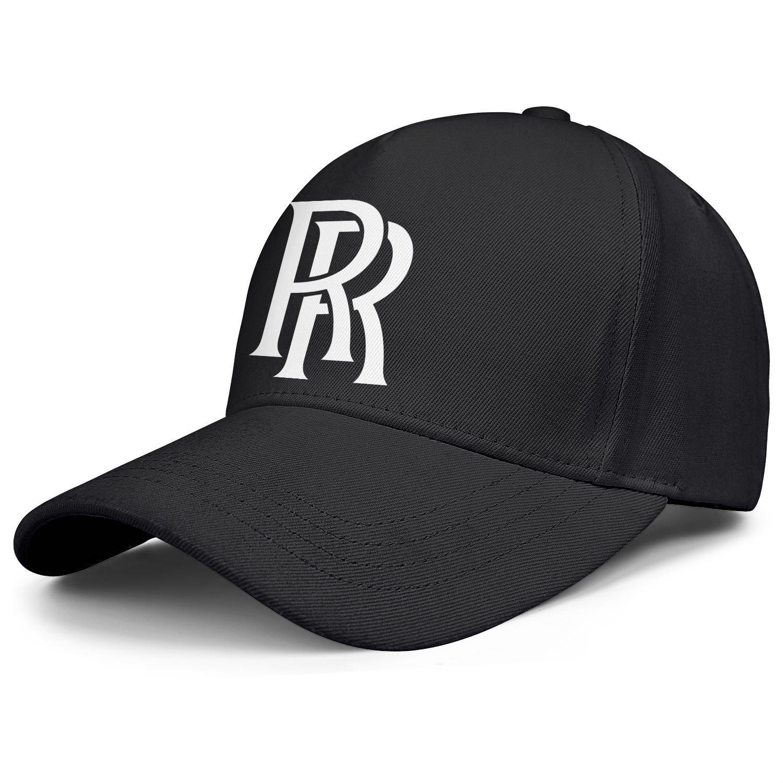 vente chaude en ligne 5244c 13c03 Womens Mens Plain Adjustable Rolls Royce Logo Punk Hip-Hop Cotton Baseball  Hat Summer Travel Hats Military Caps Airy Mesh Hats For Men Women