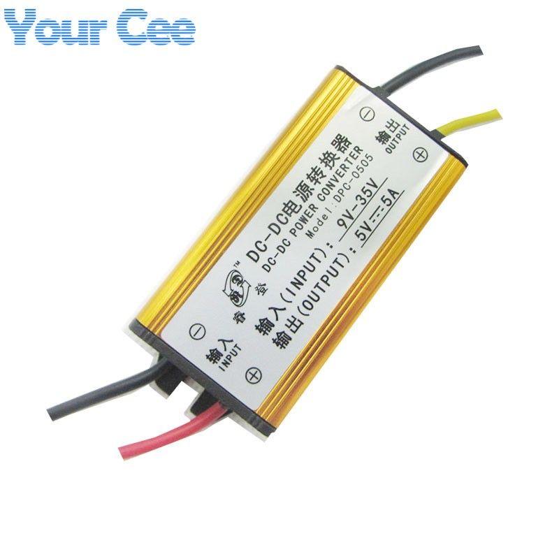 Freeshipping 5 pcs DC-DC 12V 24V to 5V 5A Buck Converter Voltage Regulator  Step Down Power Supply Module Car/Vehicle LED