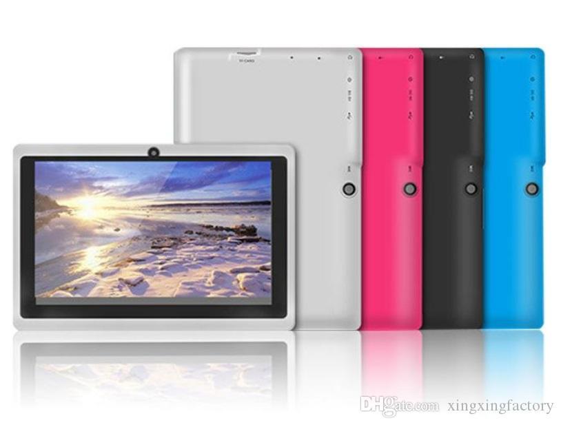 barata tableta de 7 pulgadas tablet PC Quad Core A33 Allwinner androide 4.4 capacitiva de 1,5 GHz 512 MB de RAM de 8 GB ROM de doble cámara de DHL