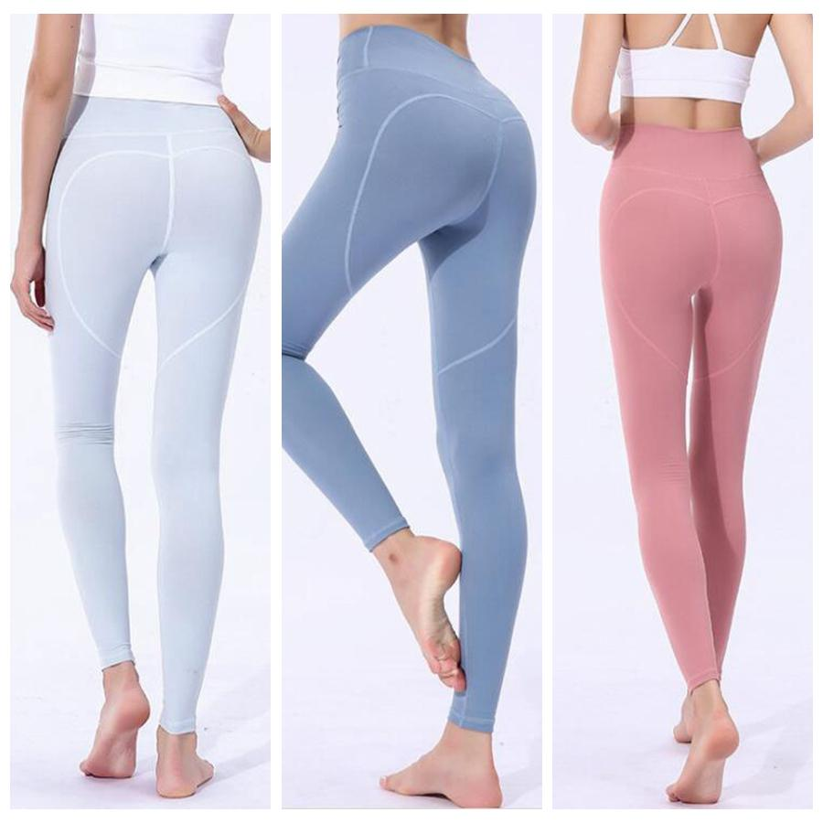 838748c2914 2019 Women Skinny Leggings Heart Shaped Sports Gym Yoga Pants High Waist  Workout Tight Ninth Yoga Leggings OOA6331 From Good clothes
