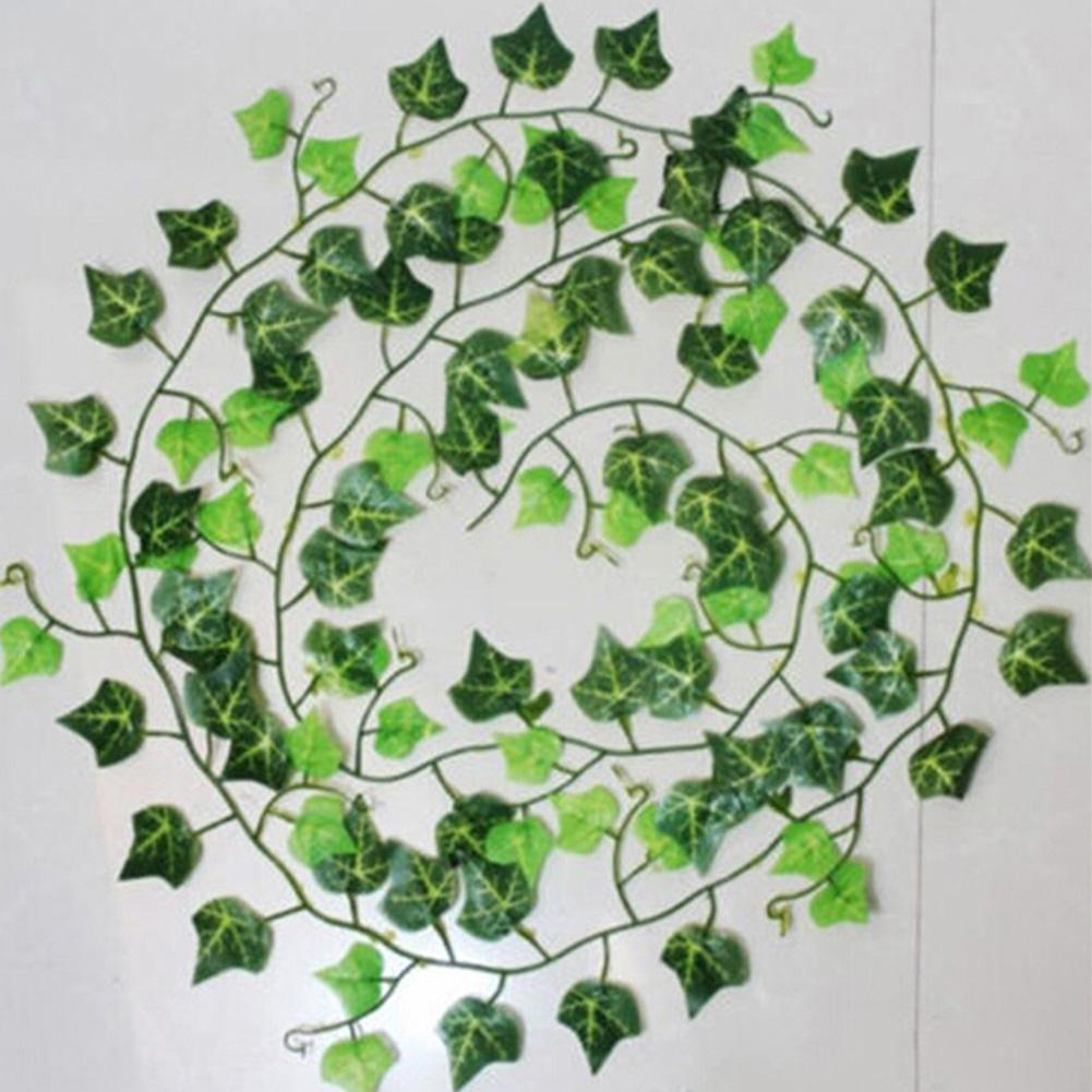 1/12/24pcs Artificial Plants Plastic Garland Leaves Ivy Leaf Fake Flower Wedding Decor Vine Green Foliage Wall Decorations