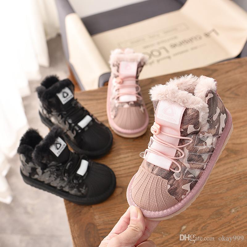 6da9cb14af4d4c Girl Boots 2019 Chaussure Fille Winter The New Korean Version Child Snow  Boots Girl Booties Cotton Shoes Sequin Baby Boy Tide Best Kids Boots Best  Toddler ...