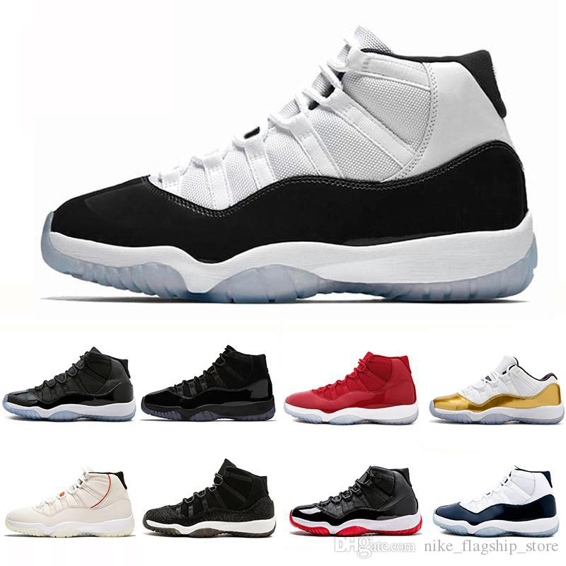 a236f6ab8e5 11 11s Concord 45 Cap And Gown Gym Red Chicago Platinum Tint Space Jams  Midnight Navy Men Basketball Shoes Designer Sports Sneakers 36 47 Men  Basketball ...