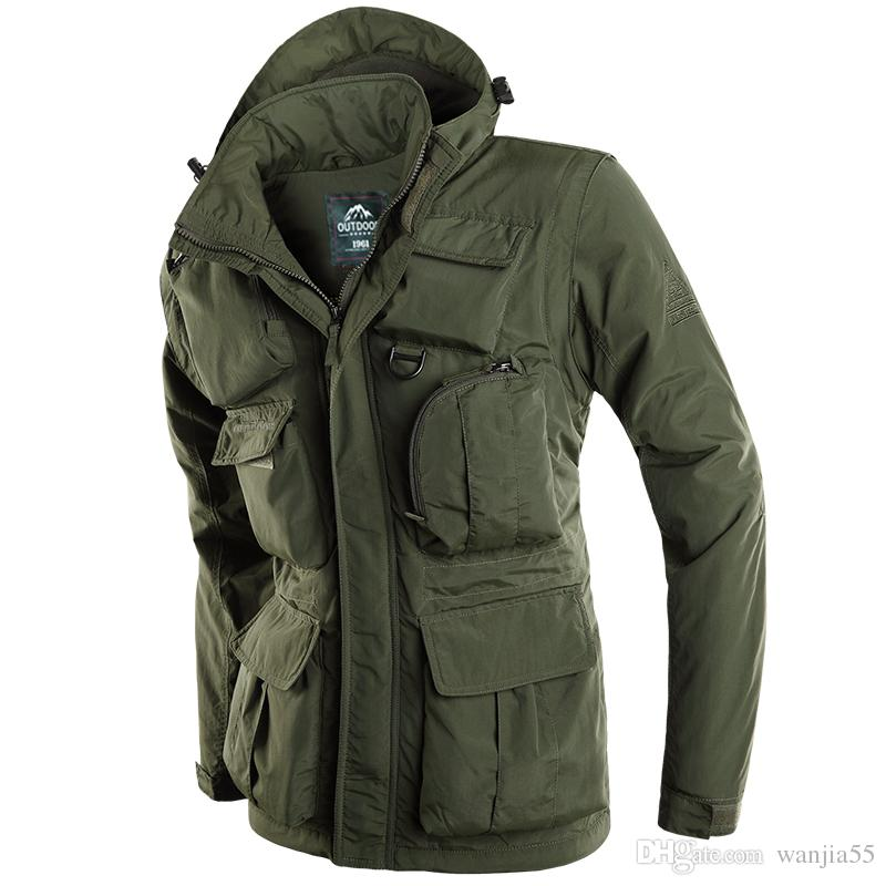 879a8c4e5a4 2019 New 2019 Outdoor Jackets Men Veste Homme Army Jacket Plus Size 4XL AFS  JEEP Men Jacket Jaqueta Masculina Spring Bomber Coat From Wanjia55