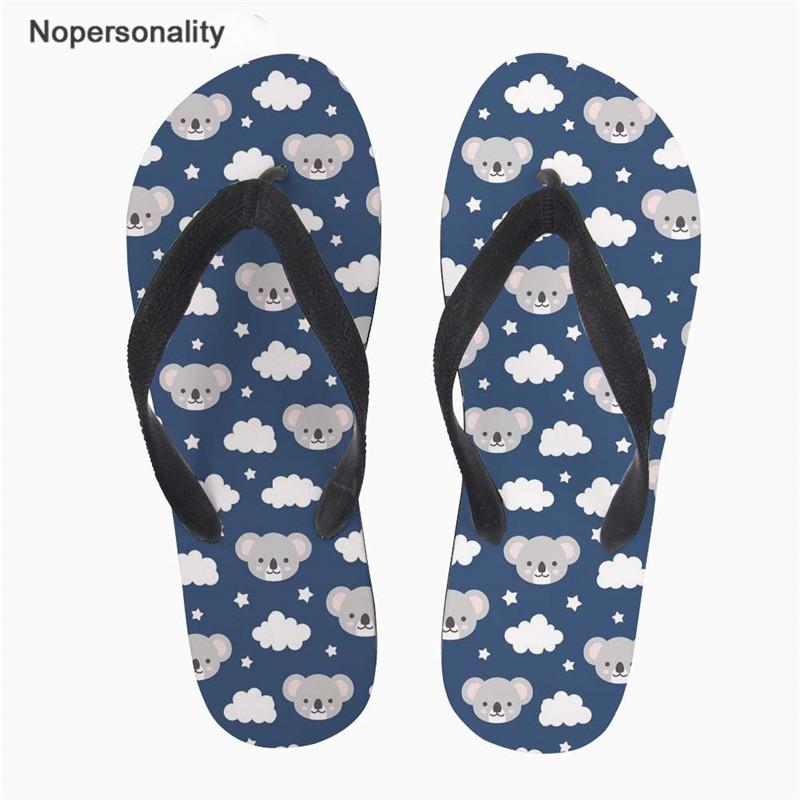 39db54556 Nopersonality Cute Koala Prints Male Slippers Comfortable Summer Beach  Flipflops Non Slip Home Sandals Zapatos De Los Hombres Loafers For Women  Clogs For ...