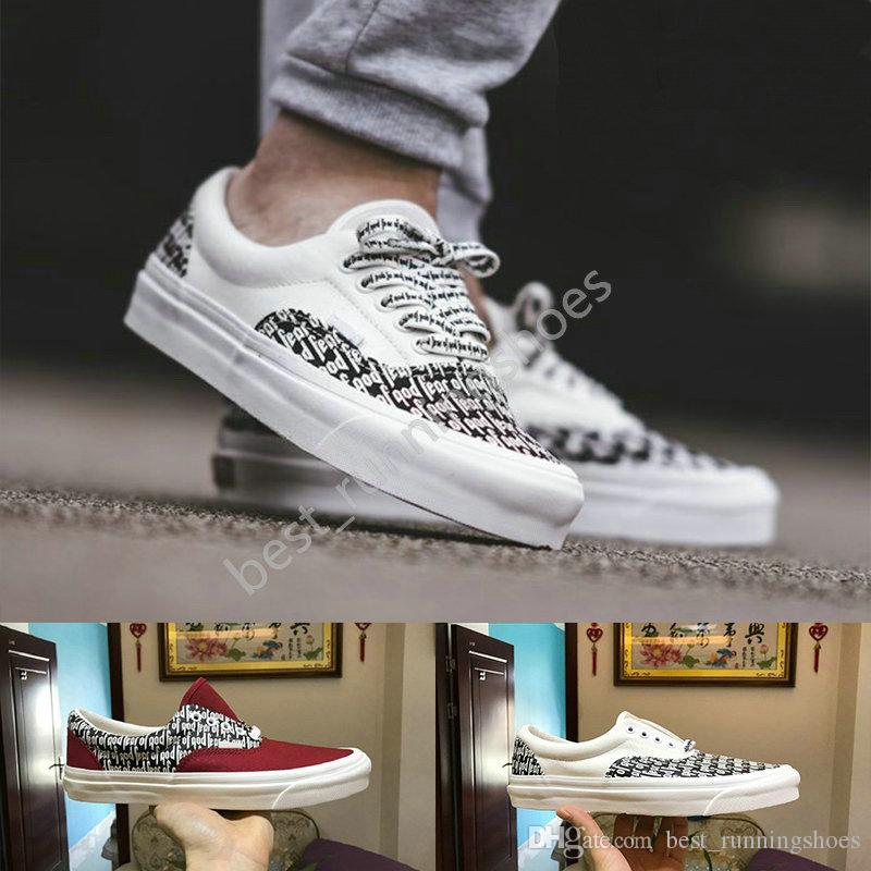 2019 Fear Of God X Era 95 Old Skool Men Women Casual Shoes Yacht Club  Skateboard Canvas Skate Sports Running Shoe Sneakers Trainers Chaussures  From ... b6436fb90