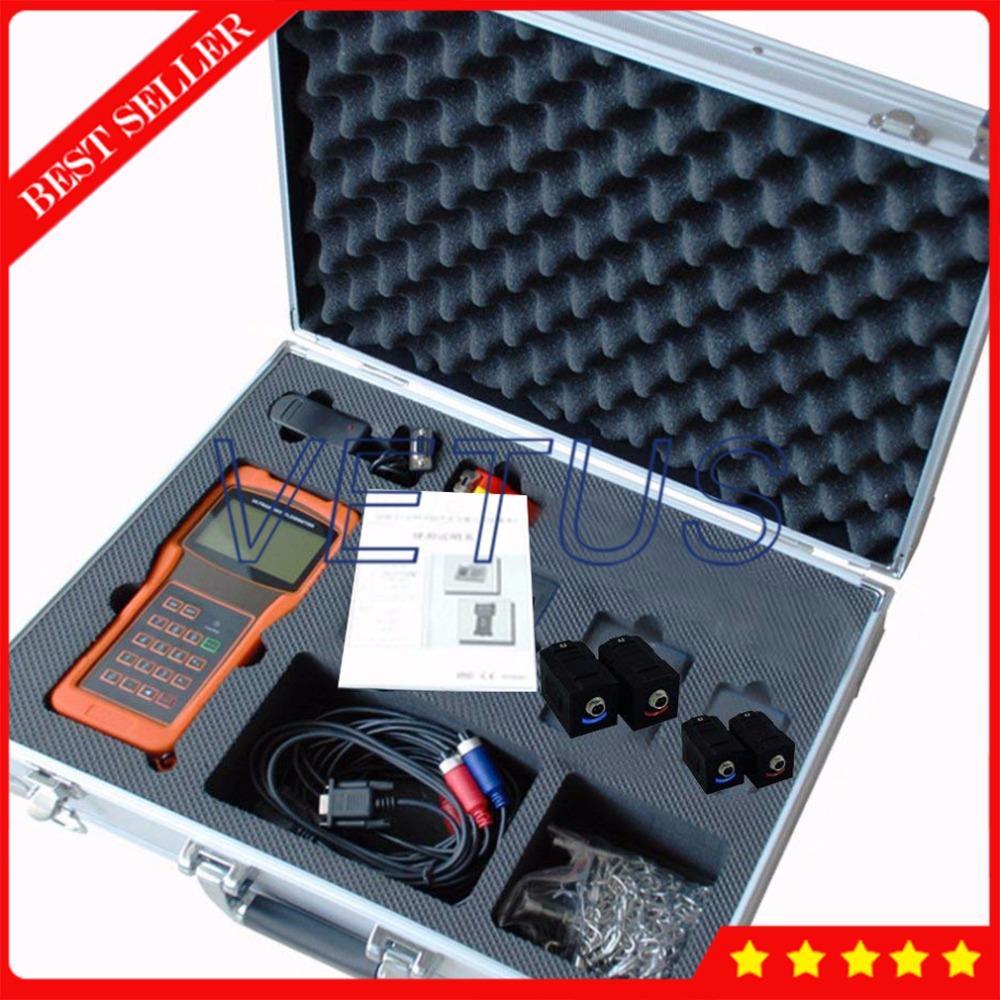 TUF-2000H DN15-700mm Digital Liquid Flowmeter Handheld Ultrasonic Flow  Meter with 2 Size High Temp TS-2-HT TM-1-HT Transducer