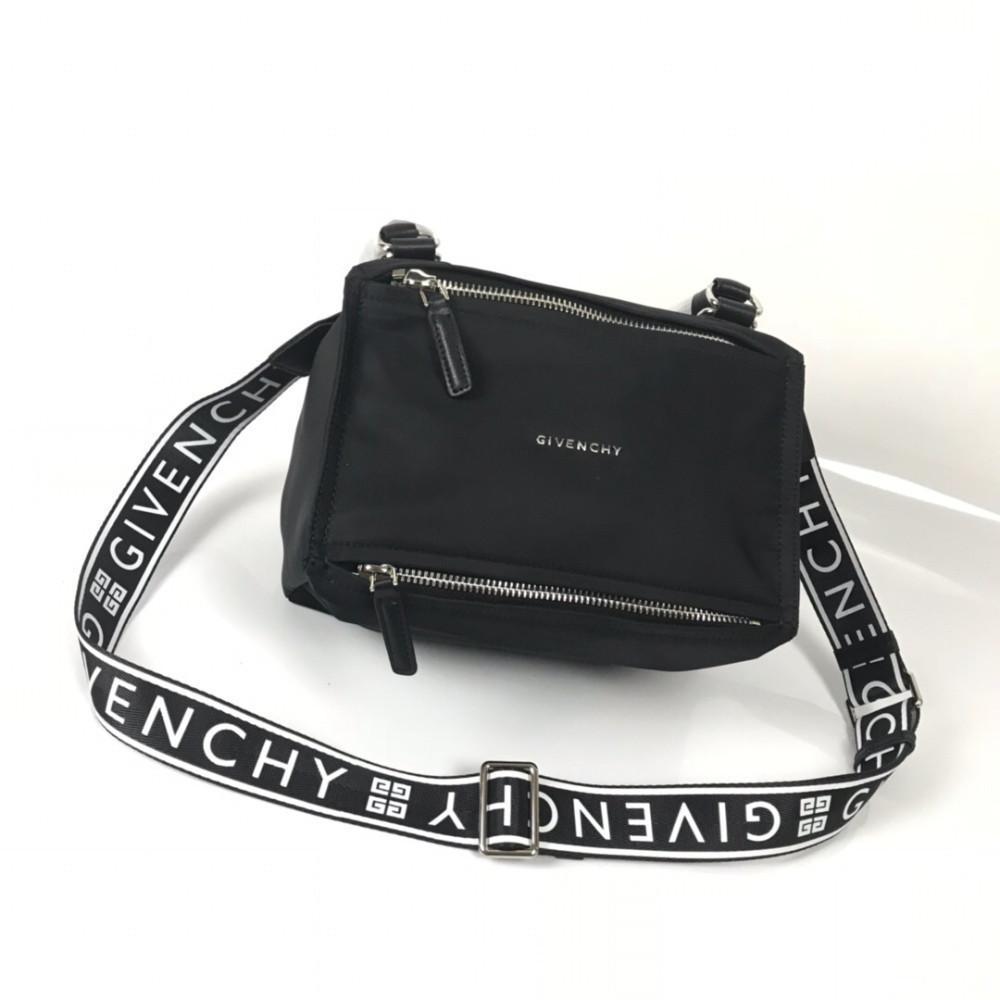 108c8ccb5f5 New Men's Bag Black Cloth With Leather White Paint Letter Medium Shoulder  Messenger Bag Wraparound Zipper Builtered