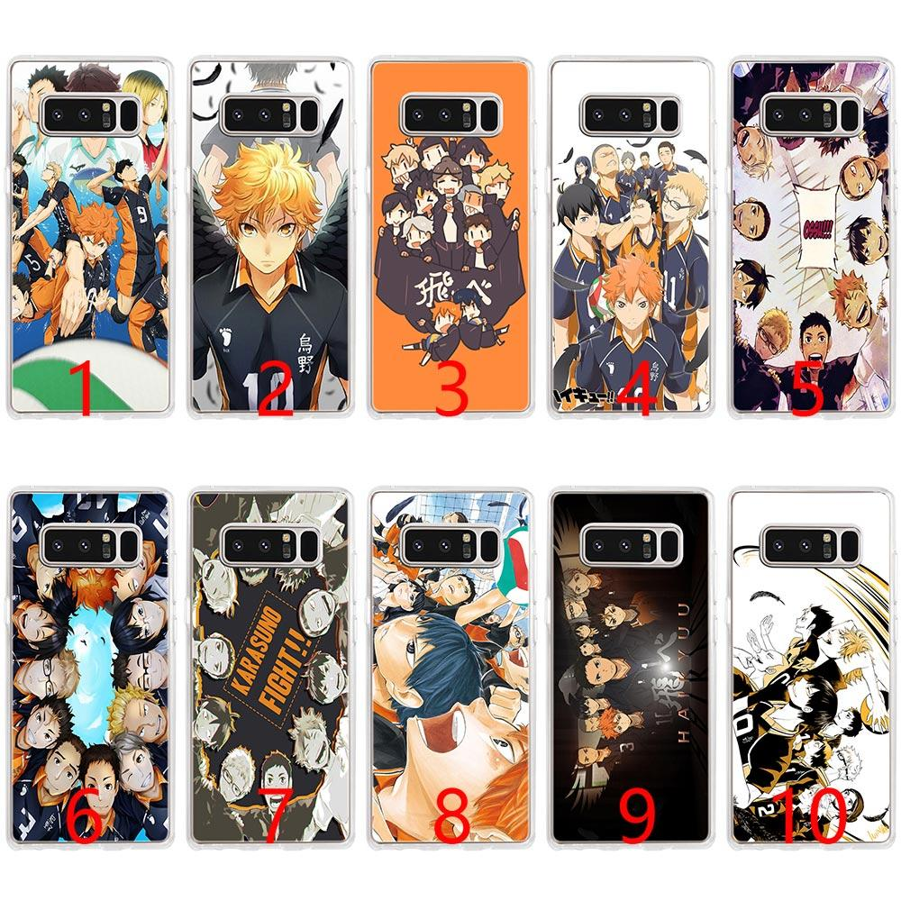 size 40 d9194 4a382 Cool Anime Volleyball Haikyuu Soft Silicone Phone Case for Samsung Note 9 8  S7 Edge S8 S9 Plus Cover