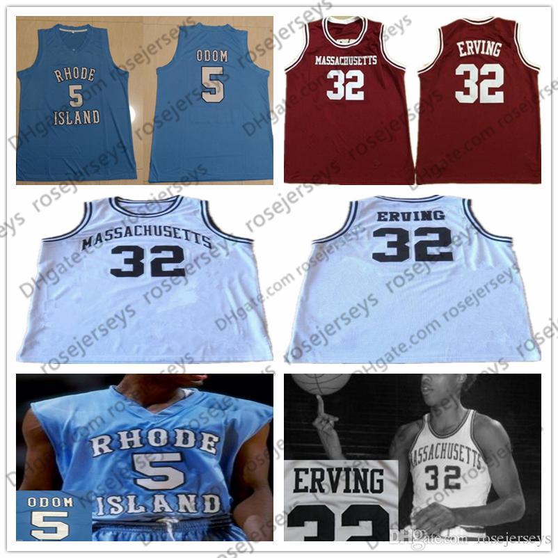 hot sale online e16bb 8faf7 UMASS Massachusetts Minutemen #32 Erving Dr. J Red Julius White Retro Rhode  Island Rams #5 Odom Blue Lamar College Basketball Jerseys S-4XL