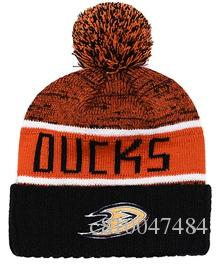 e8c82848582 NEW Men S Anaheim Mighty Ducks Knitted Cuffed Pom Beanie Hats ...