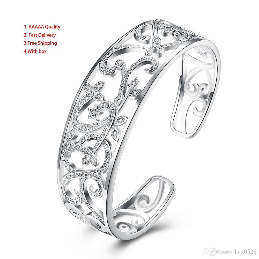 Accessori caldi Silver Hatch Braccialetto Totem Branch Diamond Hand Decorate Braccialetto di fascino vintage Perla Bracciale Bridal Wedding da sposa