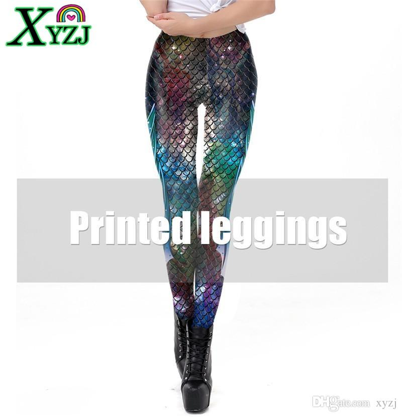 d41a1073d0a5a 2019 2019 Fashion Women Mermaid Scales Printed Workout Legging Colorful  Fitness Leggins Plus Size S XL Slim Dance Pants From Xyzj, $16.59 |  DHgate.Com