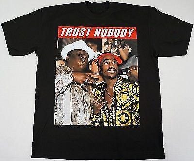 TUPAC SHAKUR BIGGIE T-shirt Smalls TRUST NOBODY 2Pac Notorious B.I.G T-shirt Taille Plus