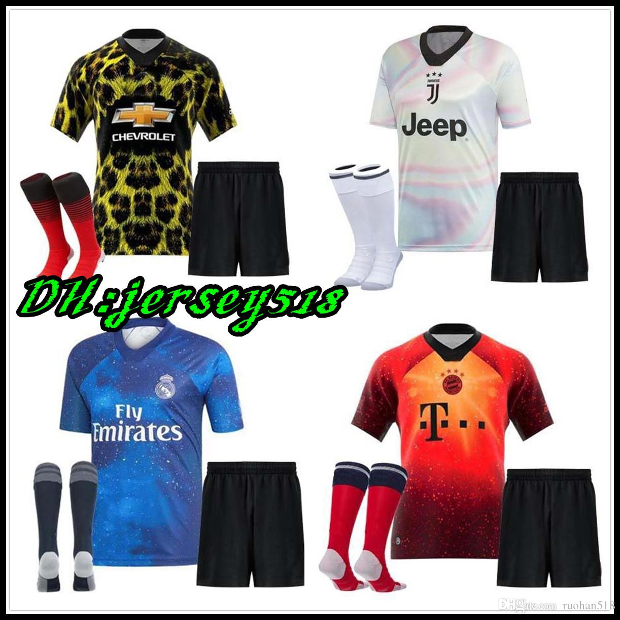 9596bbfc2 2019 2018 EA Sports Kids Kit INSANE Bayern Munich Man United JUVENTUS REAL  MADRID Child SOCCER JERSEYS SHIRT TRAINING RONALDO SPECIAL SHIRTS From  Ruohan518