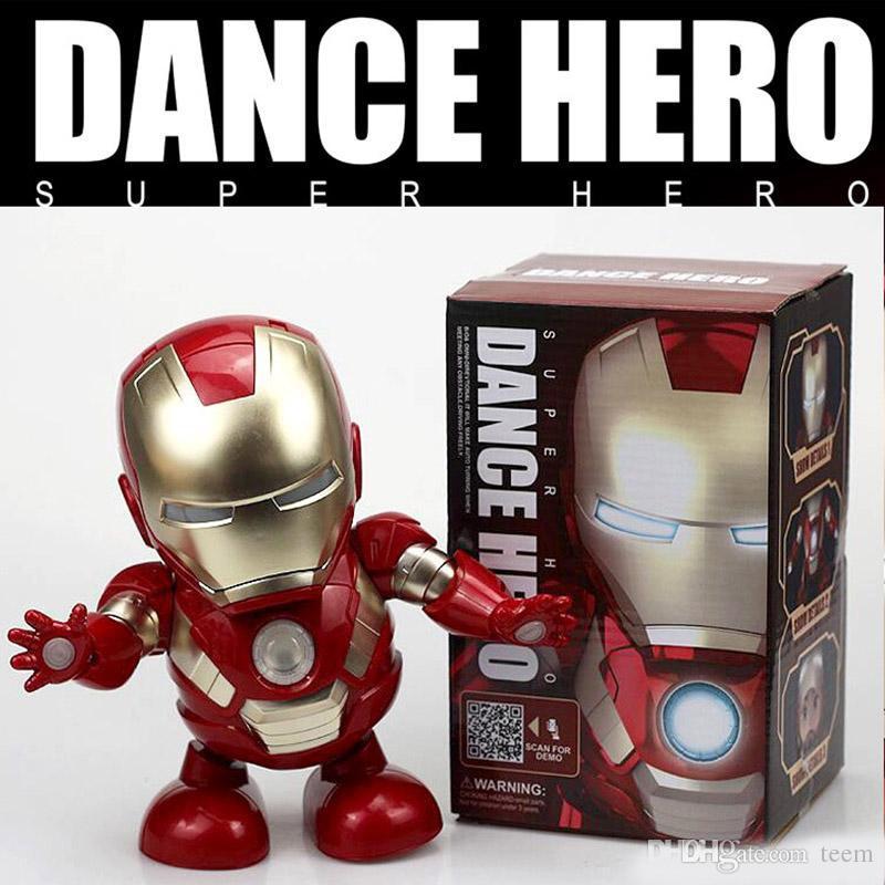 Jouets Enfants Son Pour Figure Iron Avec Avengers Danse Action De Robot Électronique Hero Led Man Jouet Poche Lampe Ov8wmN0n