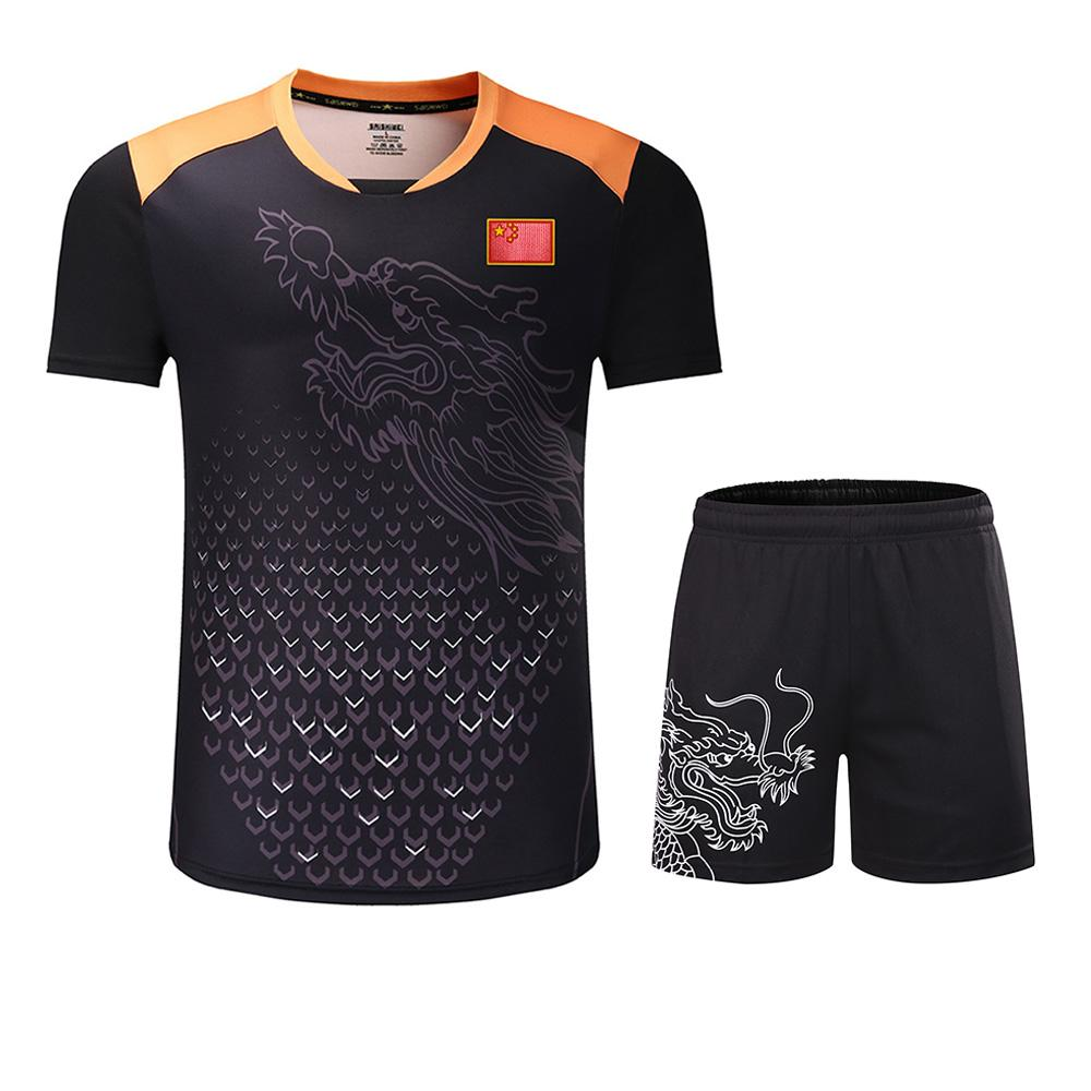 New CHINA flag Dragon table tennis sets Men or Women,ping pong tracksuit ,  sport sets table tennis clothes , suits