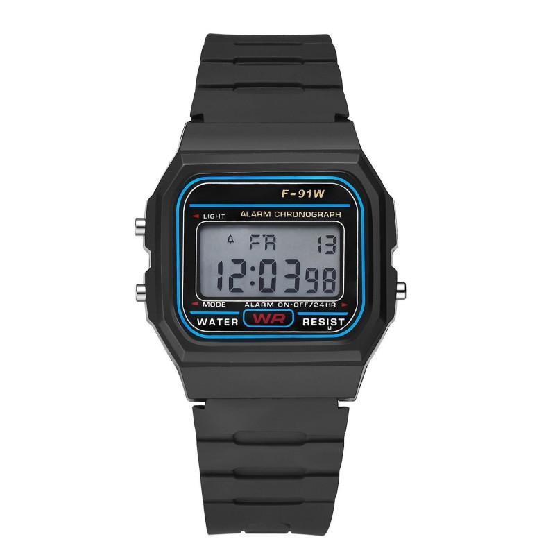 Multifunction WR F91W F-91W Fashion Ultra-thin Watches metal watchband LED Change Watch Sport A159W Men Women Sport Watches Watch