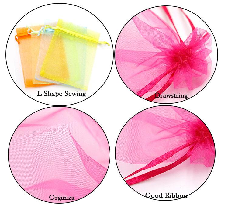 Multi Organza bags 9x12cm Jewelry Display Fabric Pouches Jewelry Display Packaging Organza Gift Bags Custom your Logo