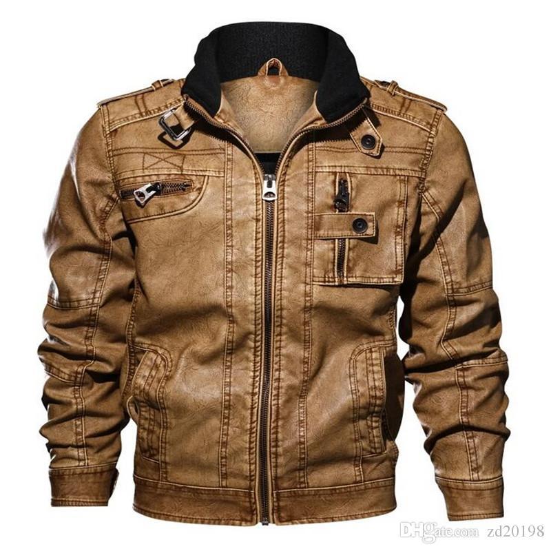 d087331a2ad Brand High Quality Motorcycle Leather Jacket Men Mens Leather Jackets Coats  Men Jaqueta De Couro Masculina Plus Size L-5XL Leather Jacket Mens Jacket  Mens ...