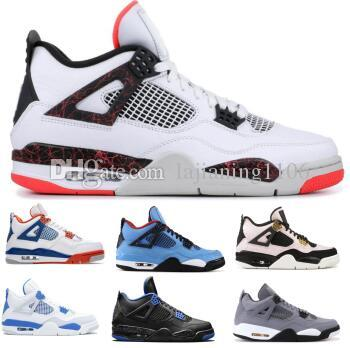 839f54c4430c Flight 4 4s Basketball Shoes Sneakers 2019 White Bred Splatter NRG Wings  Pale Citrron Sngl Cactus Jack Toro Bravo Mens Women Designer Shoes Shaq  Shoes Kd ...