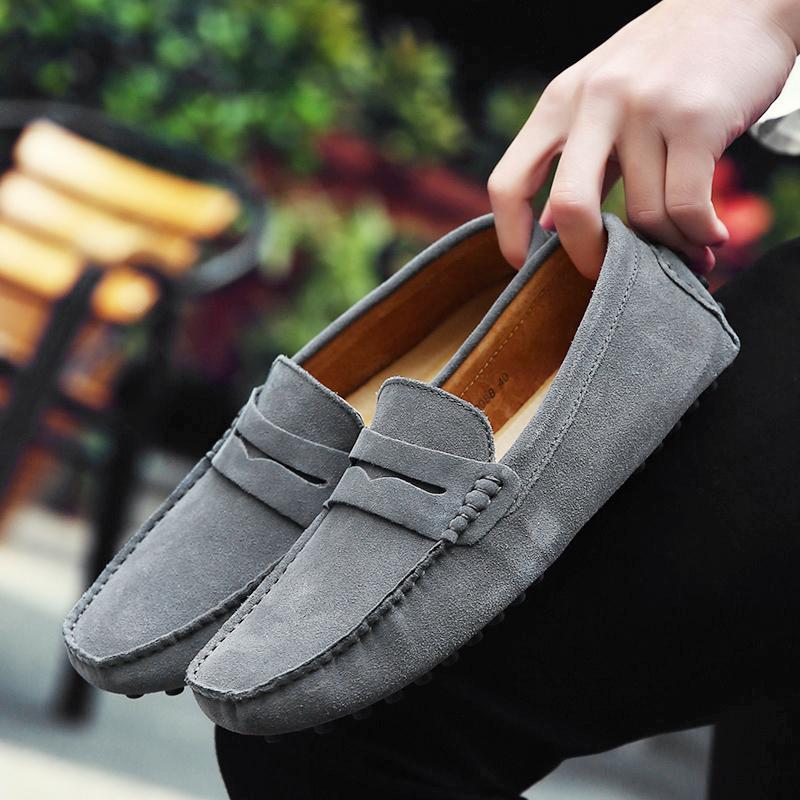 4024e4e3d0 Compre Mocasines De Hombre Marca De Alta Calidad Moda Primavera Estilo  Mocasines Suaves Zapatos De Cuero Genuinos Hombres Pisos Zapatos De  Conducción ...