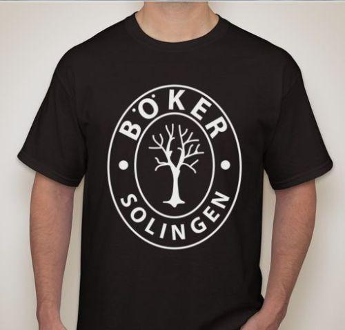 Boker Solingen German Dagger Tee Knife Sword maker Mark t-shirt new 2018 Summer Fashion ,Men's Short Sleeve, cotton Printed