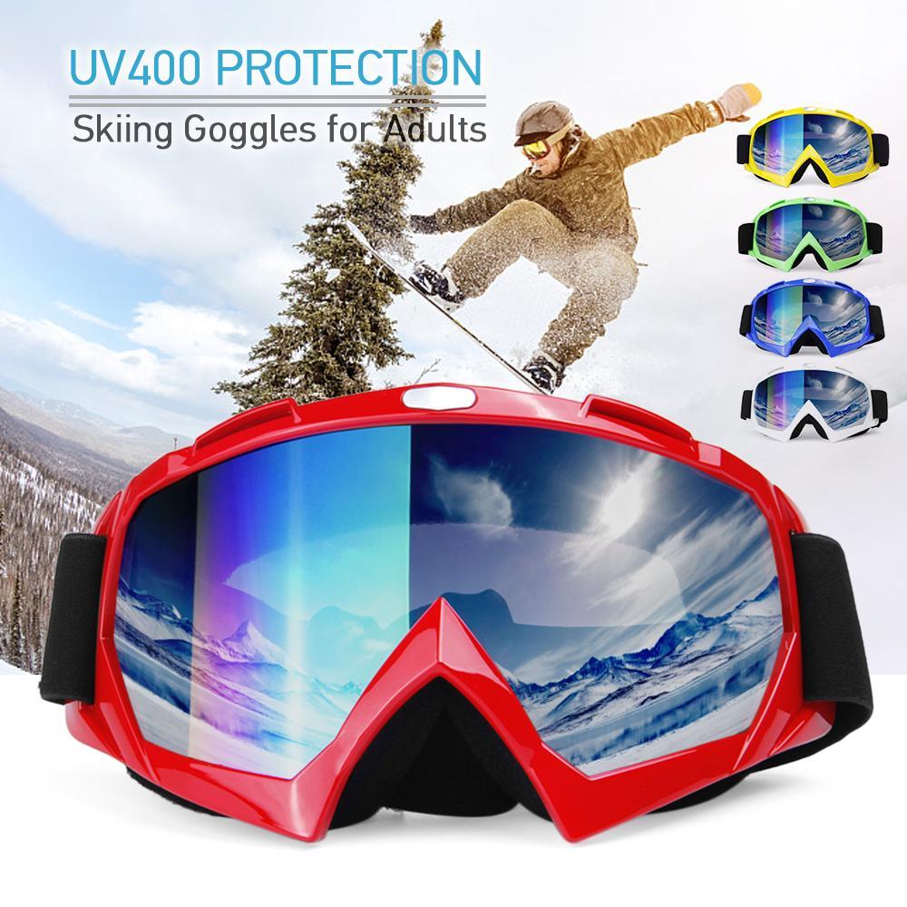 173bb49cc0 Anti-fogging Goggle Skiing UV400 Protective Goggles Breathable Climbing  Skating Skiing Motorcycling Goggles Men Women Glasses