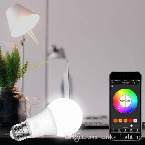 Bluetooth Light Bulb High Quality Timer+group+music Android Ios Rgbw  Bluetooth Mesh lamp smart Led bulb Music speaker e27 led Bulb
