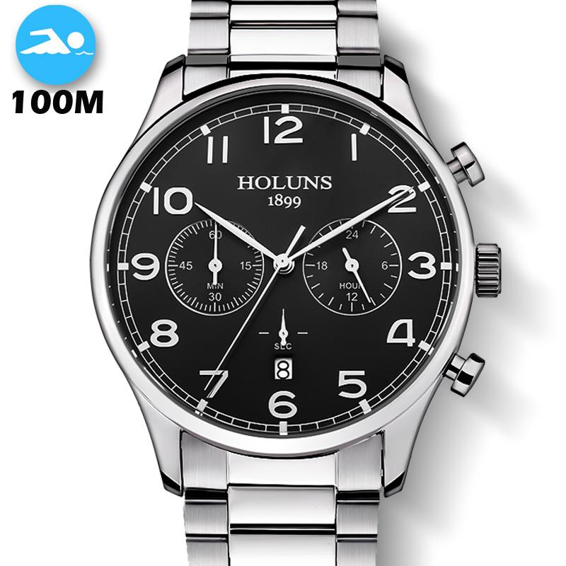 100M Waterproof Fashion Casual Brand Quartz Watch Men Stainless Steel Sports Watches Man Clock montre homme 2019 new