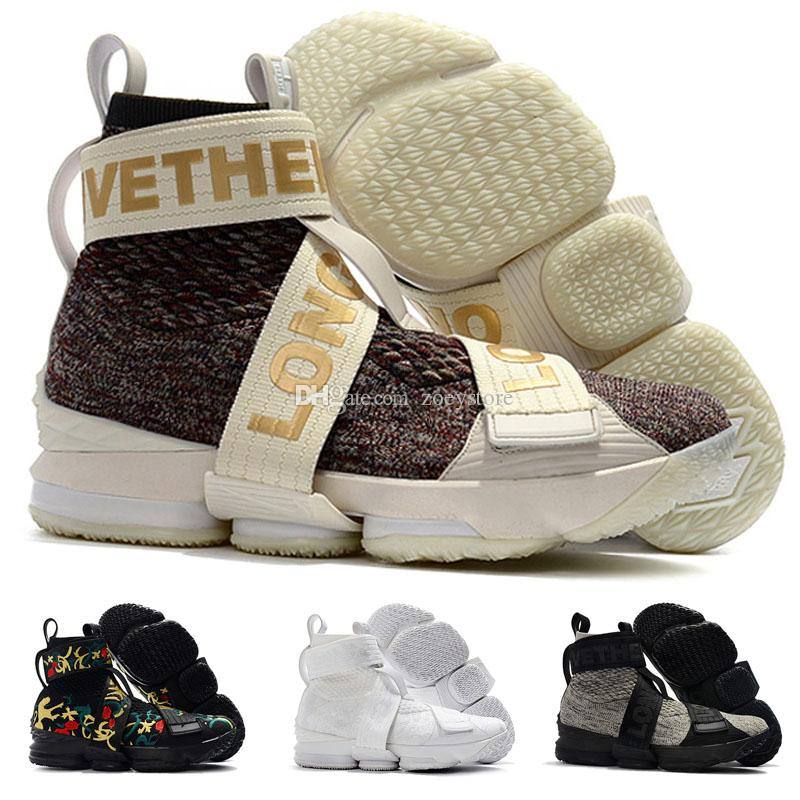 d8c08900955e 2019 KITH X Lebron 15 XV Bandages Lifestyle Zippers Straps Sports Shoes 15s  Long Live The King Men Leisure Sports Shoes From Zoeystore