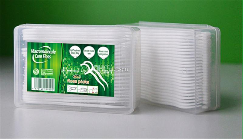 50pcs Dental Floss Picks Teeth Toothpicks Stick Tooth Clean Oral Care 7.6cm Clean and hygienic