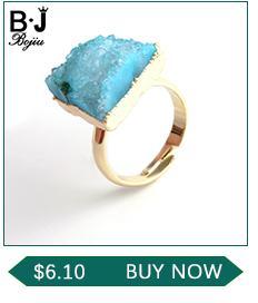 BOJIU Trendy Facettierte Blaue Kristall Charme Armbänder Für Frauen Mode Silber Hämatit Gold Kupfer Ball Kristallkugel Armband BC267