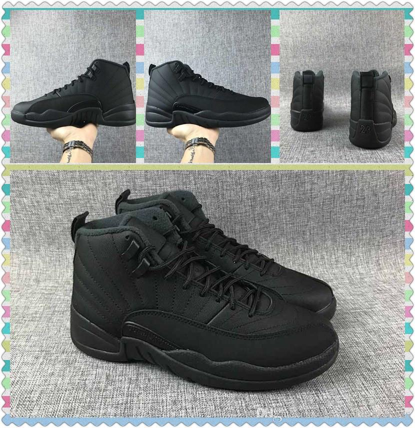 timeless design 04a92 c0505 Cheap New Release 12 WNTR Winterized Black-Anthracite Men Shoes Outdoor Sports  Sneakers 12s Designer Athletic Trainer with Box