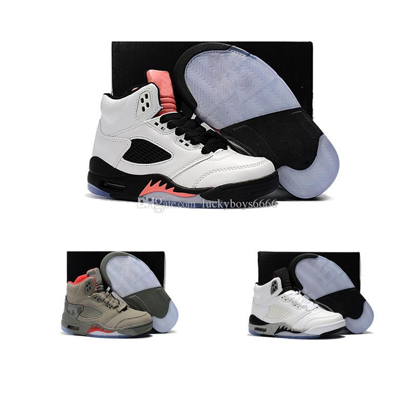the latest 8b151 3341a Großhandel Nike Air Jordan 5 11 12 Retro Kinder Turnschuhe Kinder  Basketballschuhe 2018 Für Jungen Mädchen Schwarz Rot Weiß 11 XI Hohe  Qualität Sneakers ...