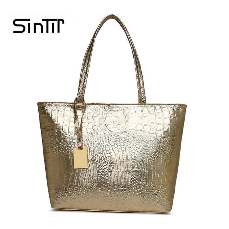 2993c348f4bef Großhandel 2019 Mode Frauen Krokodil Tasche Mode Luxus Designer Handtaschen  Damen Umhängetaschen Goldene Casual Einkaufstasche Pu Leder Hohe Qualität  Von ...