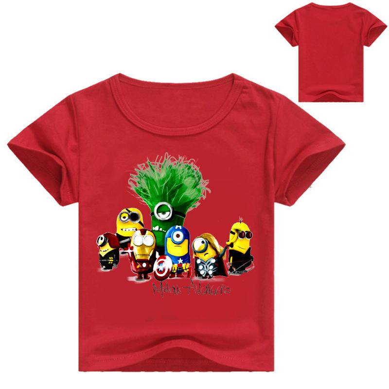 Dessins Dimpression De Bande Dessinée Despicable Me Minions Garçons T Shirts Vêtements Pour Enfants Tops Tees à Manches Courtes Enfants Garçons