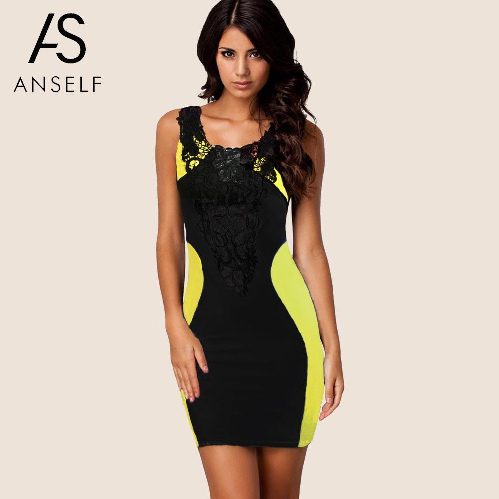 4984b8a19 Compre Anself Mujeres Mini Vestido De Verano 2019 Sexy Floral De Encaje Sin  Mangas Vestido Ajustado Vendaje Sin Respaldo Chic Vestidos De Señoras A   45.77 ...