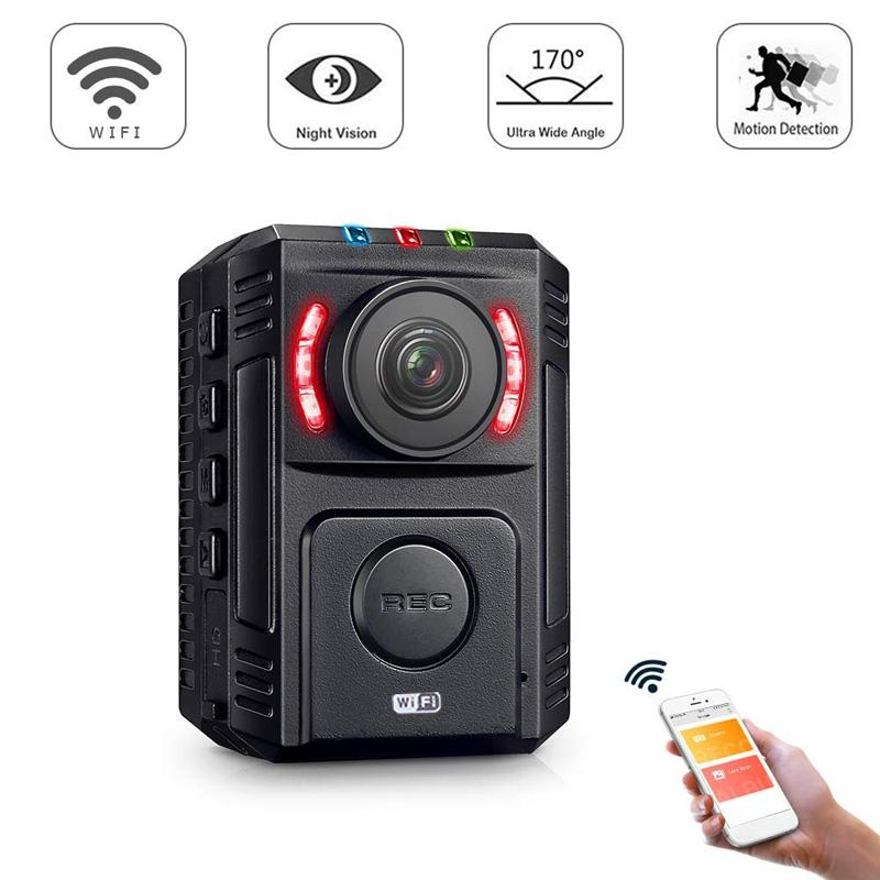 1080P Mini DV Night Vision Police Body Camera WiFi Wireless With Phone App for Car DVR Camera Law Enforcement Video Recorder Sport Camera
