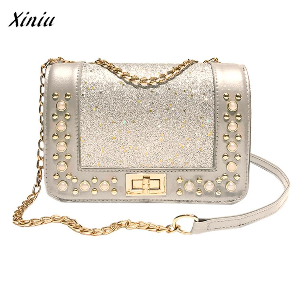 9e08641c7fda Xiniu Fashion Luxury Handbags Women Bags Designer Sequins Leather ...