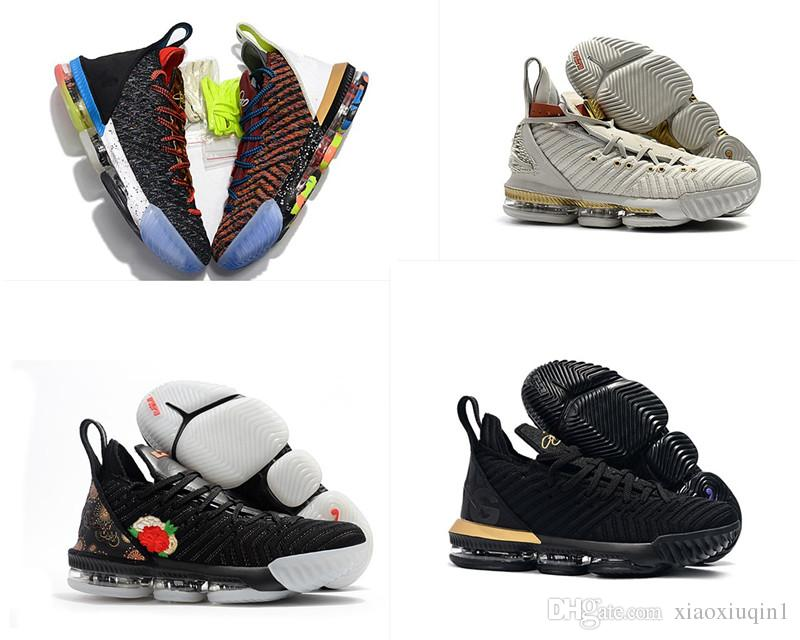 e4f770519289 2019 What The Lebron 16 XVI Women Basketball Shoes For Sale Flowers MVP Christmas  BHM Oreo Youth Kids Generation Mens Boots With Original Box From ...