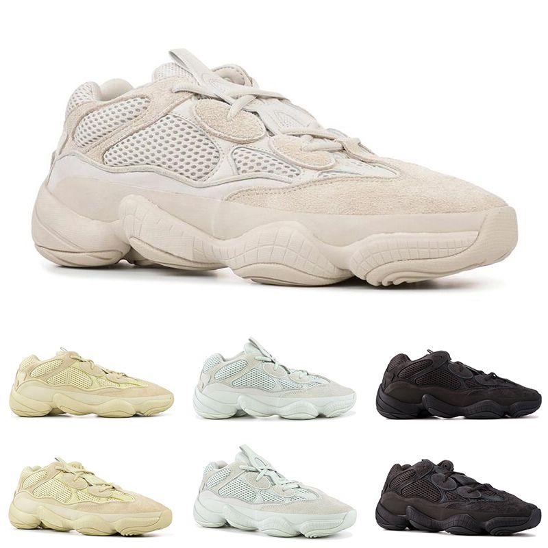 buy online 63ed8 78889 Adidas Yeezy Boost 500 V2 Runner Boost chaussures de course pour hommes  femmes BLUSH SALT SUPER MOON JAUNE UTILITAIRE NOIR Desert Rat en daim  baskets ...