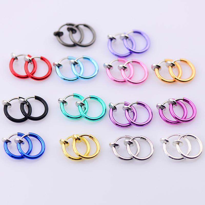 Heißer Verkauf Multicolors 1 Paar Frauen Männer Gefälschte Lippen Ohr Nase piercing Einzigartige Exquisite Ohrclip Ohrringe