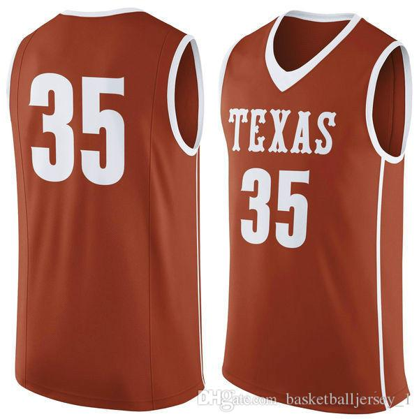 newest collection 6e64a 07a49 NO.35 Texas Longhorns Men College Basketball Jersey Embroidery Athletic  Outdoor Apparel Mens Sport Jerseys Size S-3XL