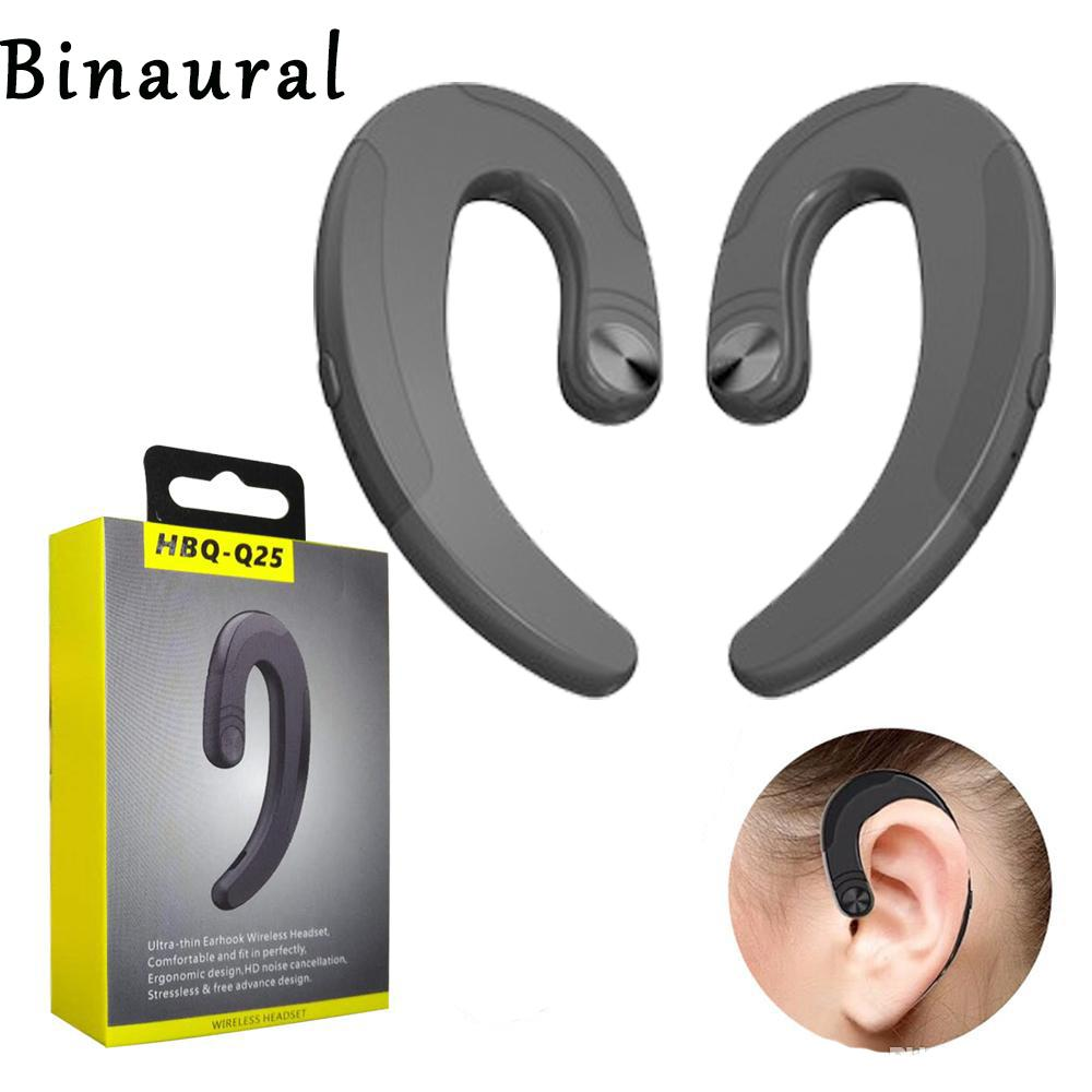 HBQ-Q25 Binaural Wireless Bluetooth Headphones Earphones Waterproof Bluetooth Earbuds Sports Headset Bone Conduction With box top