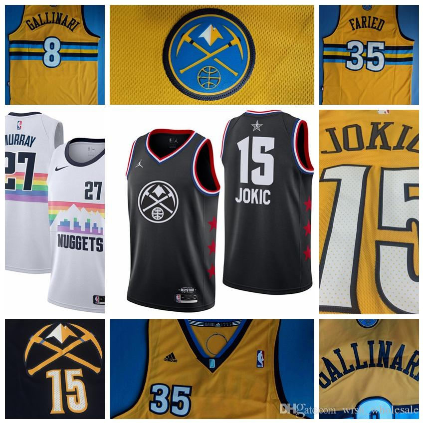 23e5a1e977d5 2019 Denver Jersey Nuggets Nikola Jokic Jerseys Maillots De ...