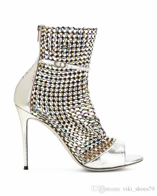 Taille En Show Peep Robe Cuir 2019 Super Luxe Sandale De Diamant Fashioin Toe Soirée Sandales Fille Coustomized T Star Chaussures Véritable PkXiZOu