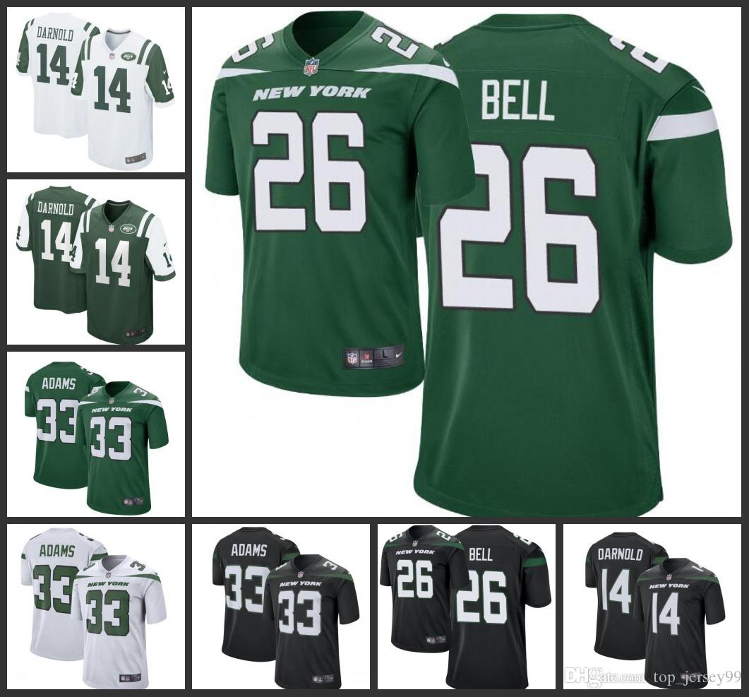 new product 86755 b65a8 New York Men's Jets Jersey #26 Le'Veon Bell 14 Sam Darnold 33 Jamal Adams  Green Player Game Women Youth Jerseys