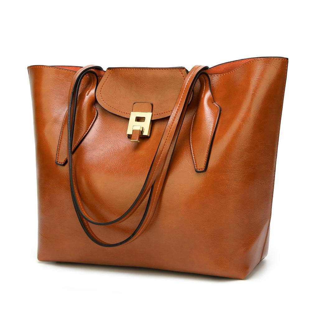 ff043d87c358 Women's Bags European and American Fashion Button Single Shoulder Bag  Handbag Slanting Baitao Women's Leather Handbag